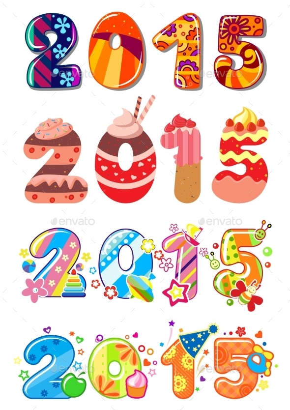 GraphicRiver Childrens Party 2015 Numbers 9813681