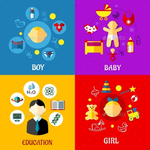 GraphicRiver Childhood Concept 9813696