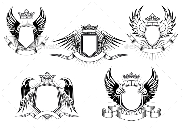 GraphicRiver Royal Coat of Arms Templates 9813703