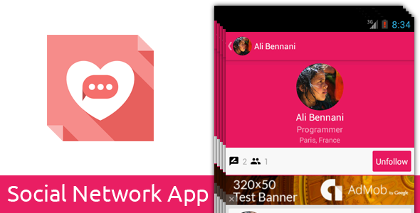 CodeCanyon Social Network App Multi-Purpose 9813711