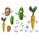 Cartoon Vegetable Characters - GraphicRiver Item for Sale