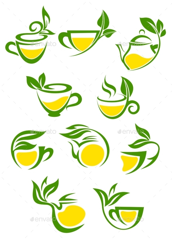 GraphicRiver Tea Symbols 9813754