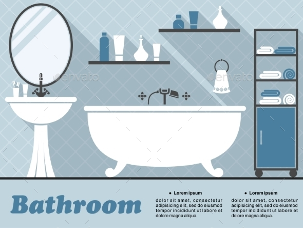 GraphicRiver Bathroom Infographic 9813791