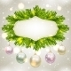 Fir Tree Frame with Baubles - GraphicRiver Item for Sale