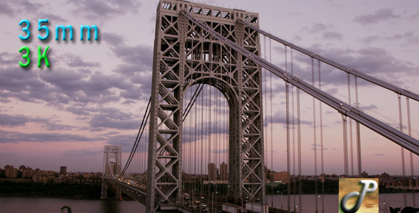 Washington Bridge At Rush Hour Traffic