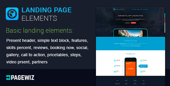 ThemeForest Landing Elements Vol 1 for Pagewiz 9813857