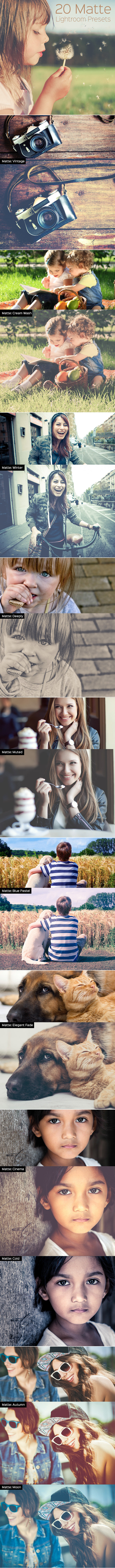 GraphicRiver Matte Lightroom Presets 9814569