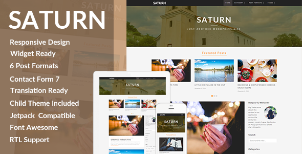 ThemeForest SATURN A Personal Travel Wordpress Blog Theme 9814741
