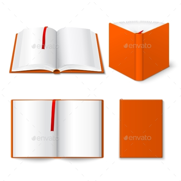 GraphicRiver Open Book Templates Set 9815029