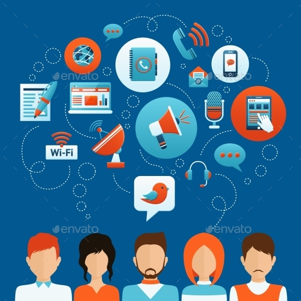 GraphicRiver People Communication Concept 9815093