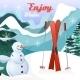 Winter Landscape Background - GraphicRiver Item for Sale