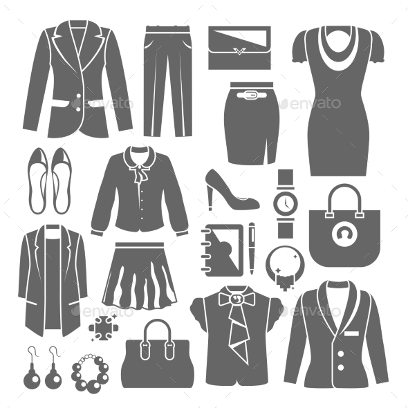 GraphicRiver Businesswoman Clothes Set 9815195