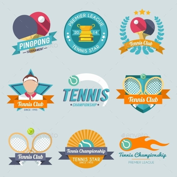 GraphicRiver Tennis Label Set 9815197