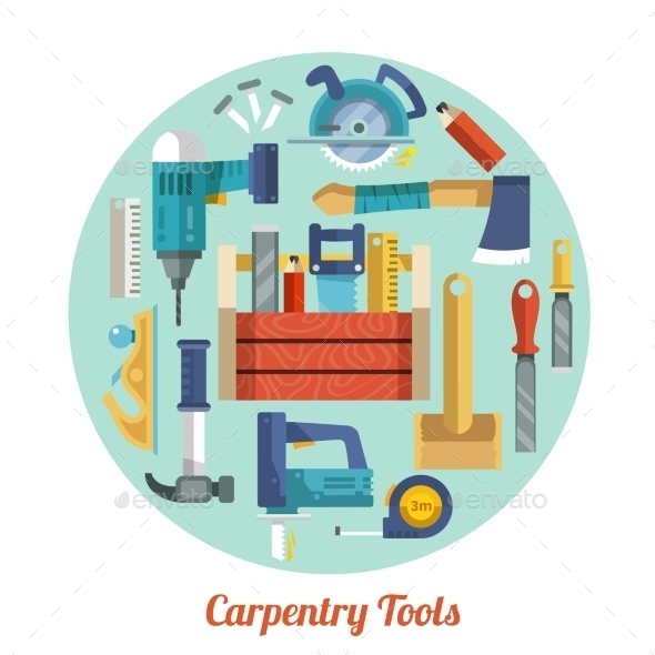 GraphicRiver Carpentry Tools Set 9815198