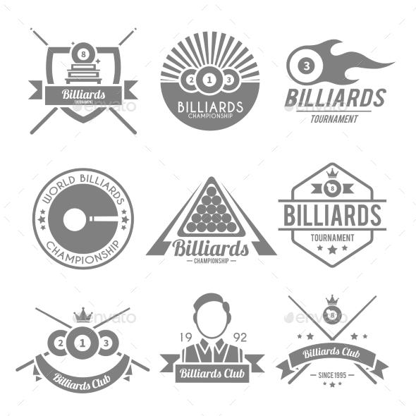 GraphicRiver Billiards Black Label 9815200