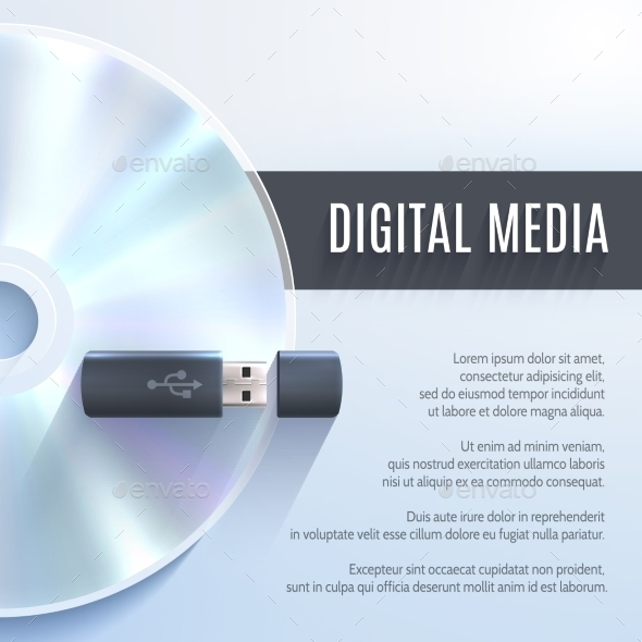 GraphicRiver Usb Flash Drive With Cd 9815256