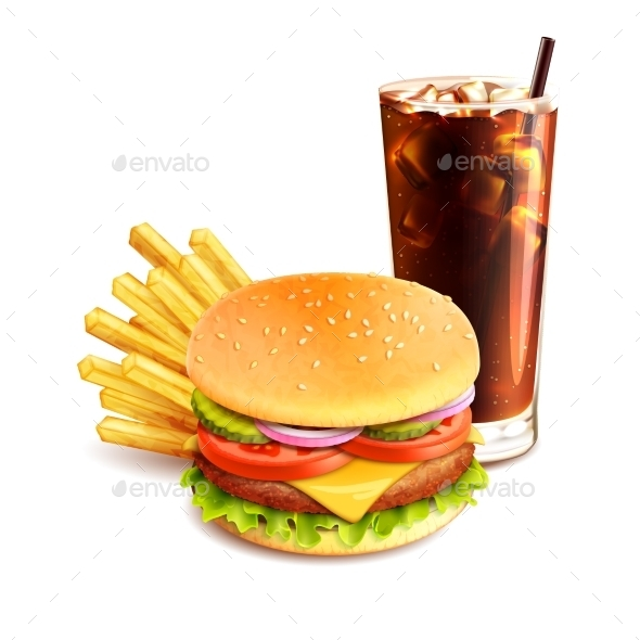 GraphicRiver Hamburger French Fries And Cola 9815282