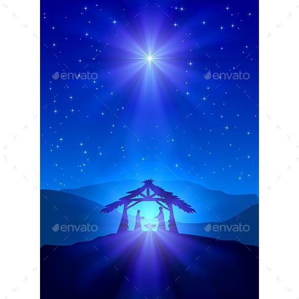 GraphicRiver Christian Christmas Night 9815287