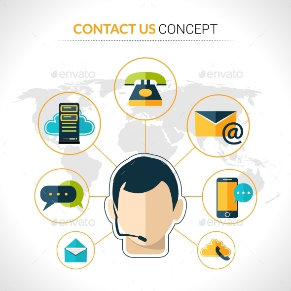GraphicRiver Contact Us Concept Poster 9815289