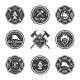 Fire Department Emblems Black - GraphicRiver Item for Sale