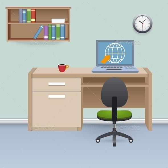 GraphicRiver Cabinet Interior Illustration 9815295