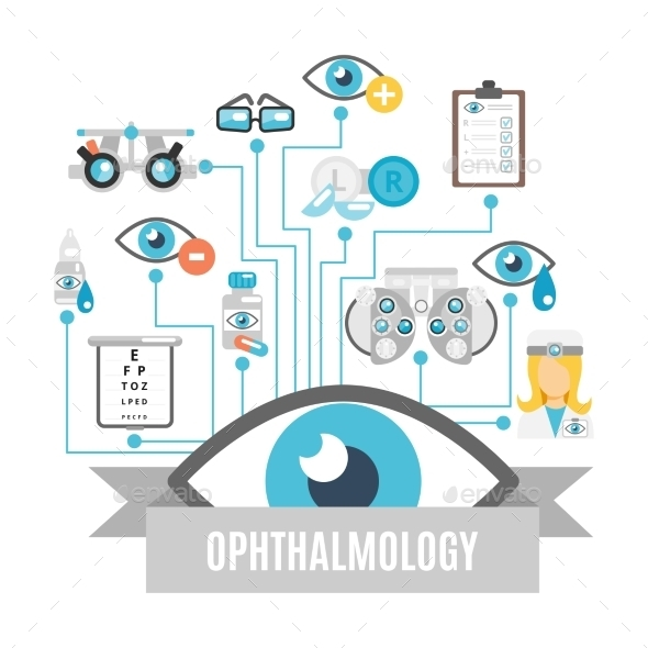 GraphicRiver Ophthalmology Concept Flat 9815297