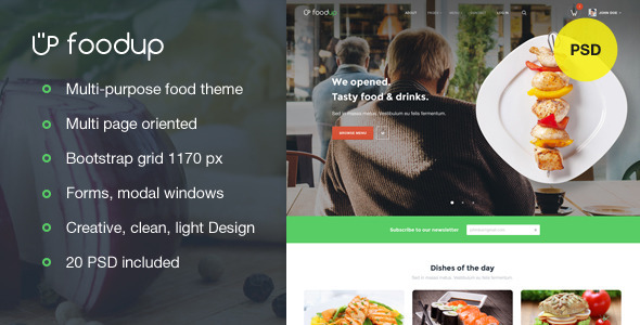 ThemeForest FoodUp Multi-purpose food & restaurant theme 9815373
