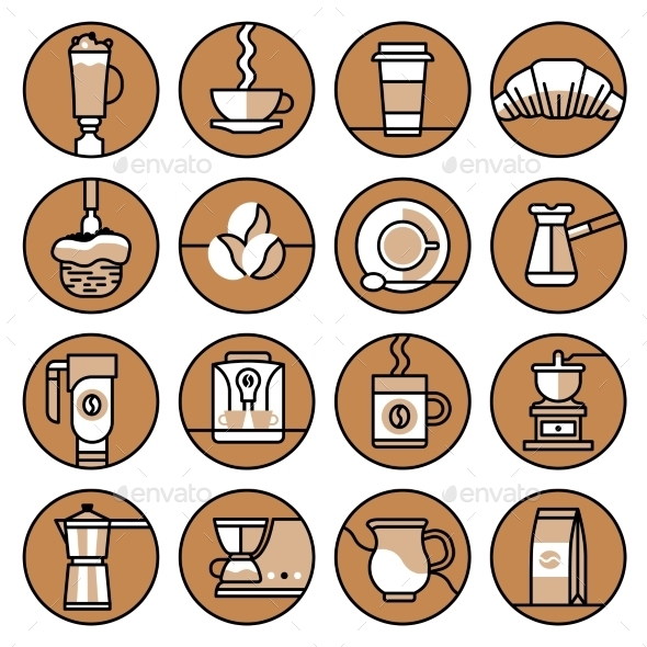 GraphicRiver Coffee Icons 9815380
