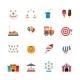 Amusement Park Icons Flat - GraphicRiver Item for Sale