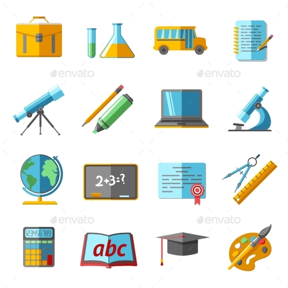 GraphicRiver Education Icons Set 9815383