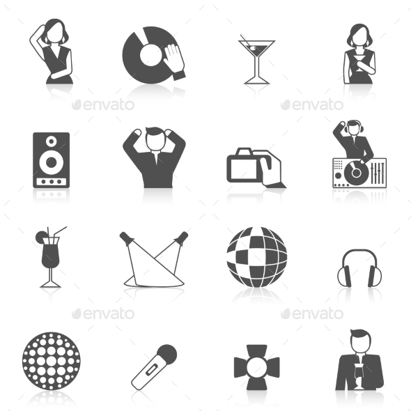 GraphicRiver Nightclub Icon Set 9815389