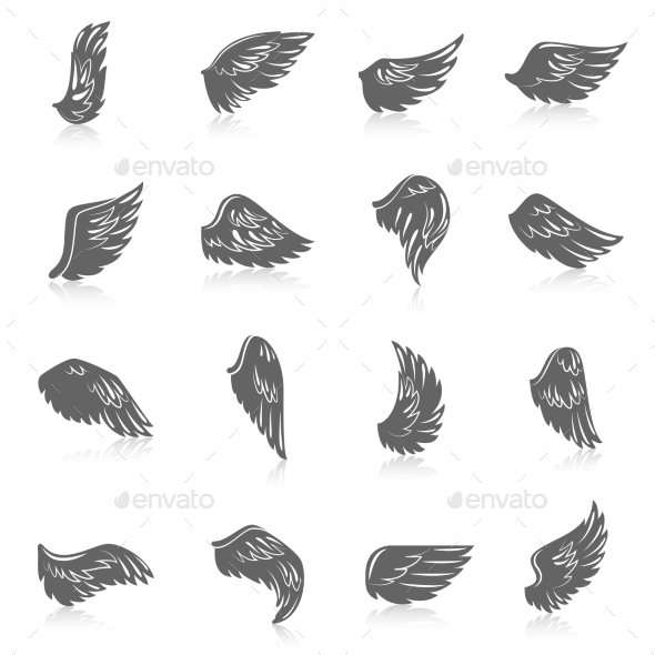 GraphicRiver Wing Icon Set 9815391