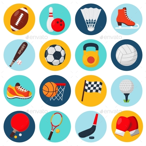 GraphicRiver Sport Icons Set 9815415