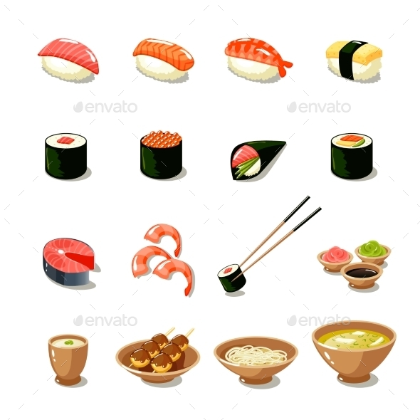 GraphicRiver Asia Food Icon Set 9815417