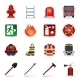 Firefighter Icons Set