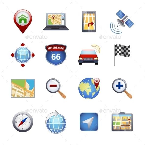 GraphicRiver Gps Navigation Icons 9815472