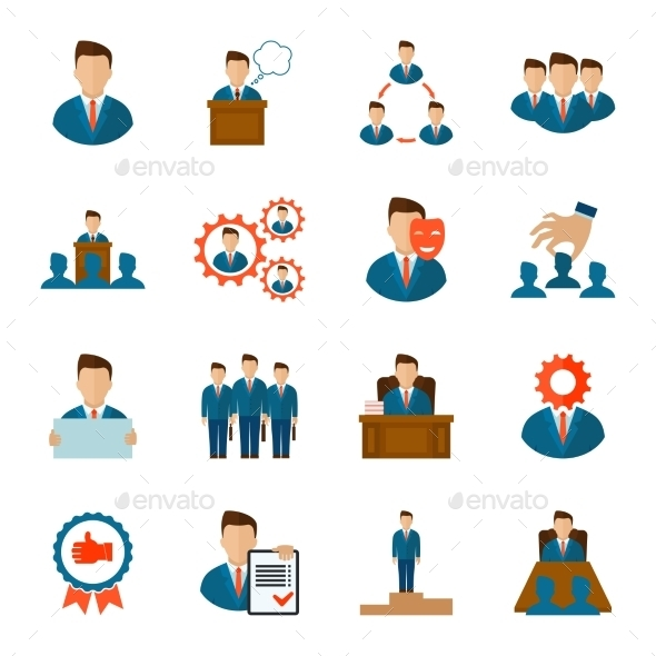GraphicRiver Executive Icons Flat 9815488