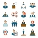Executive Icons Flat - GraphicRiver Item for Sale
