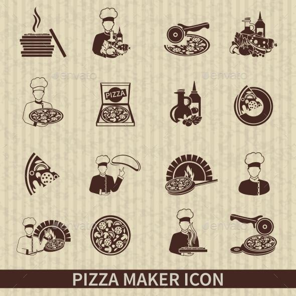 GraphicRiver Pizza Maker Icon Black 9815510