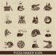 Pizza Maker Icon Black - GraphicRiver Item for Sale