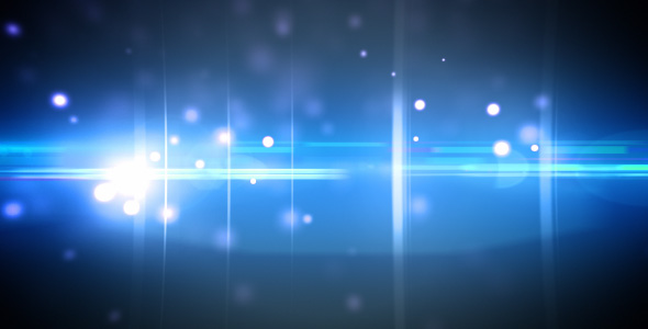 VideoHive Particles and optical flares blue loop 124714