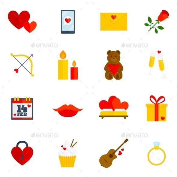 GraphicRiver Romantic Icon Flat 9815712