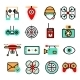 Drones Icon Set - GraphicRiver Item for Sale