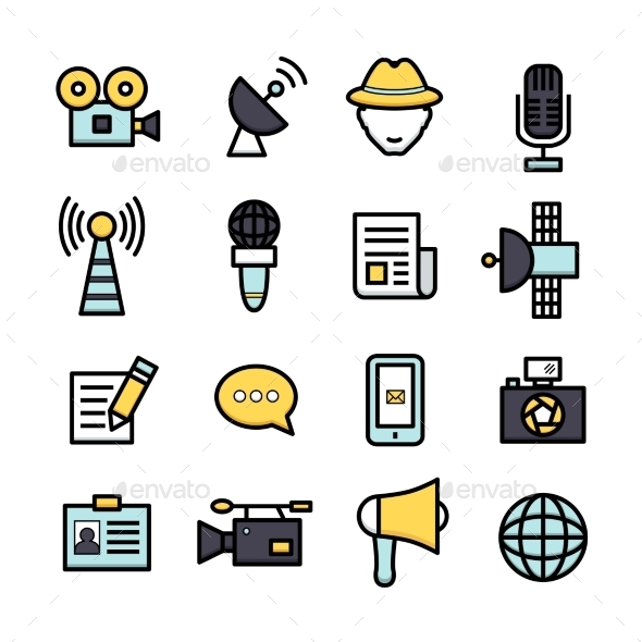 GraphicRiver News Reporter Icons 9815728