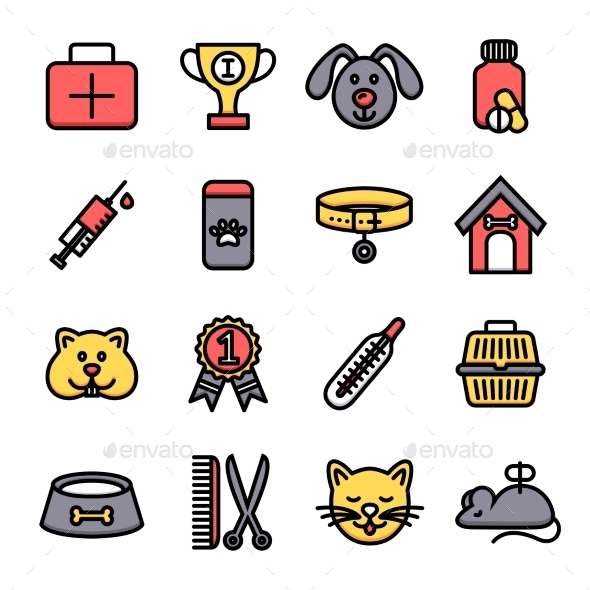 GraphicRiver Veterinary Icon Set 9815731