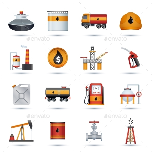 GraphicRiver Oil Industry Icons 9815740