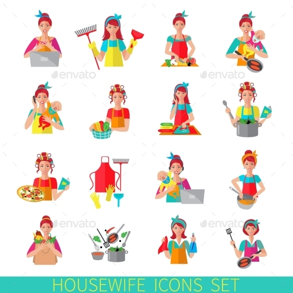 GraphicRiver Housewife Icon Set 9815750