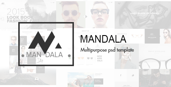 ThemeForest Mandala Multipurpose PSD Template 9815899