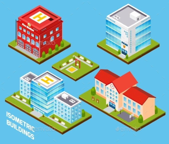 GraphicRiver Government Buildings Set 9816017