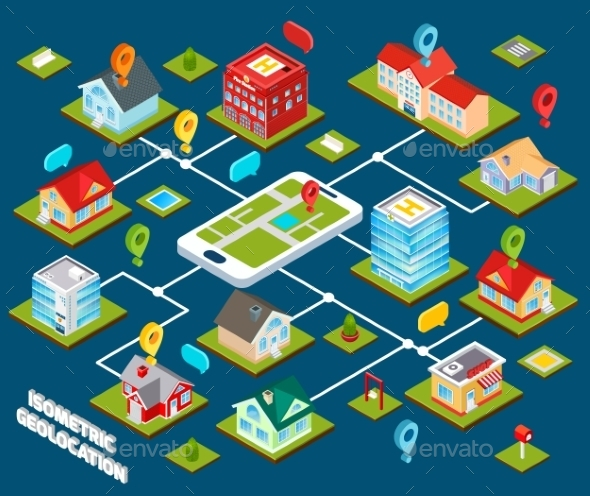 GraphicRiver Isometric Geolocation Concept 9816030